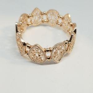 Loft Rose Gold Tone Filigree Slip On Bracelet